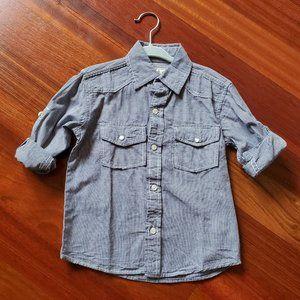 PD&C Blue & White Button Down Shirt 4T